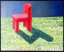 Red Chair on Green Field