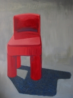 Big Red Chair - underpainting