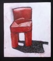Red Chair  - Conte drawing