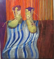 Dahl Boots oil on canvas
